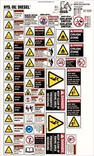 Machinery Sticker Sets For Mini Excavator 35 Assorted Decals MS012