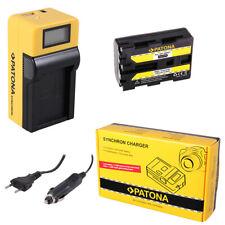 Batteria Patona + caricabatteria Synchron LCD USB per Sony DCR-HC14,DCR-HC14E