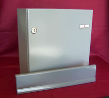Innentür Renz Briefkasten Set 370 Kasten + Briefeinwurfklappe grau KAH42