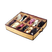 12 Pairs Shoes Storage Organizer Holder Container Under Bed Closet Box Bag Home