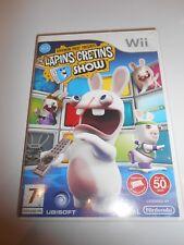 Jeu Nintendo Wii The Lapins crétins show bon état