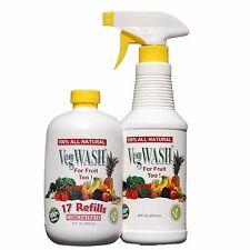 VegWASH Organic Fruit & Vegetable Wash / Rinse Concentrate Set (case)