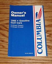 1985 Columbia ParCar Golf Car Owners Operators Manual 85