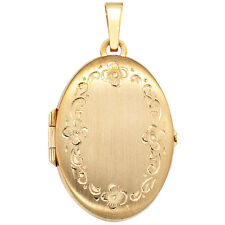 Medallion Oval 333 Gold Yellow Gold H 30,9 mm medallion medallion amulet