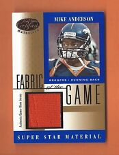 2001 LEAF CERTIFIED FABRIC OF THE GAME MIKE ANDERSON GAME-USED JERSEY #FG-62