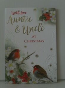 AUNTIE AND UNCLE CHRISTMAS CARDS