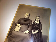 Antique Southern Victorian Mother & Daughter Cabinet Photo, Savannah, Georgia!