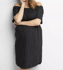 New Gap Maternity Black Cotton eyelet dress Sz s Small NWT