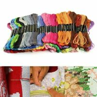 100 Colors Cross Stitch Cotton Embroidery Thread Sewing Skeins hot Floss se C1J7