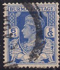 Burma 1938 - 40 KGV1 6 pies Blue used SG 20  ( 278 )