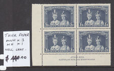 1938 Robes £1.00 Thick Paper Imprint Block Bw 216z Muh/Mh Superb!