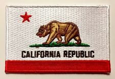 🌴CALIFORNIA STATE FLAG Embroidered Patch Iron-On California Republic Flag Patch