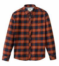Billabong Men Anderson Orange  Flannel Shirt Sz Large Long Sleeve M522CAND