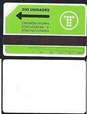 ARGENTINA 2 200u Logo telefonica variété verso BLANC 1991 MINT URMET Neuve