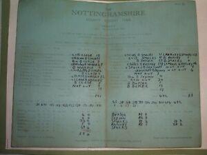 NOTTINGHAMSHIRE  V  YORKSHIRE ( JULY 19,21 & 22-1952 )