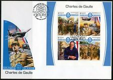 SOLOMON ISLANDS 2017  CHARLES DeGAULLE  SHEET FIRST DAY COVER