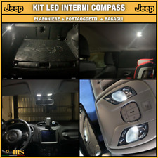 LUCI INTERNE A LED JEEP COMPASS NUOVA KIT COMPLETO CANBUS BIANCO XENON LUSSO