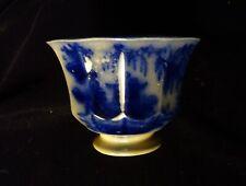 Antique Flow Blue Handleless Cup No. 5 Oriental Motif