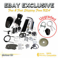 Upgraded 80cc 2-Stroke Motor Engine Kit Gas for Motorized Bicycle Bike Black