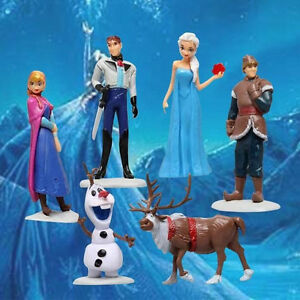 FROZEN ANNA ELSA OLAF 11cm tall FIGURINE FIGURE Playset cake topper