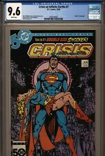 CRISIS ON INFINITE EARTHS #7 CGC 9.6 DEATH SUPERGIRL 1985 WHITE PAGES