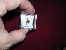 TIE TACK gold/blue Mason's Compass 1/2in. new old stock PIN TAC Men's>>Masonic