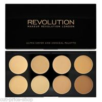 Makeup Revolution Cover and Conceal Cream Concealer Palette Light - Medium