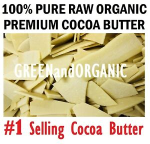 Raw Cocoa Butter Chunks 100%Pure Unrefined Organic Cacao Bean FOOD GRADE A Wafer