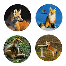 Fox Magnets: 4 Cool Foxes for your Fridge or Collection-A Great Gift