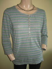 Fat Face 3/4 Sleeve Striped Tops & Shirts for Women