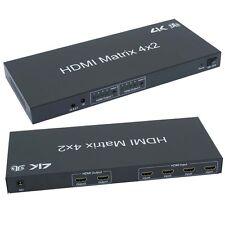 HDMI 4x2 Matrix w/IR Remote Support
