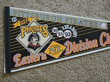 1992 Pittsburgh Pirates Baseball National League East Champs 30 Inch Pennant