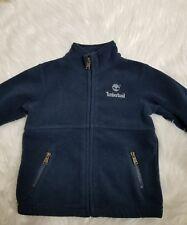 Timberland Jacket Boys Navy Fleece Zip Front 24 months--D16