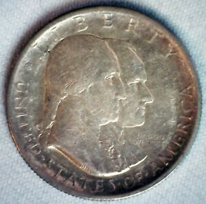 1926 American Sesquicentennial Silver Half Dollar Coin Almost Uncirculated 50c