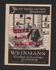 Posen, publicidad 1942, Weinmann radio-música-Elektro-grosshandlung
