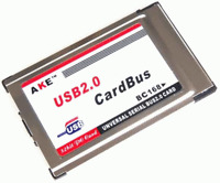 New PCMCIA to USB 2.0 Cardbus 2 Port Inside Hide Adapter + USB Cable