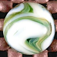 """ALLEY AGATE CO HORSE-HAIR OXBLOOD SWIRL VINTAGE MARBLE WET MINT 9.8 11/16"""""""