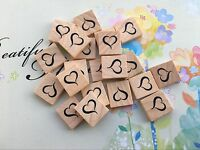 10 ' Heart ' Scrabble Tiles Letters, Individual, Hot Press Paint, USA!