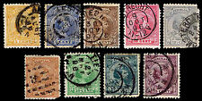 1891-94 NETHERLANDS #40-48 WILHELMINA - USED - F/VF + - CV $39.50 (ESP#1847)