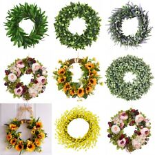 Artificial Wreaths Sunflowers Green Wreath Front Door Indoor Wall Art Decor Gift