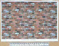"""Dolls house 1/12th scale """"Reclaimed brick"""" paper - A4 sheet"""