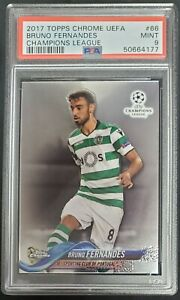2017-18 Topps Chrome UEFA Champions League Bruno Fernandes #66 Sporting CP PSA 9