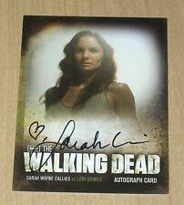 2012 Cryptozoic Walking Dead Season 2 autograph Sarah Wayne Callies Lori A14