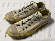 Converse All Star Shoes Sneaker Chuck Taylor Gray Yellow Unisex 5 / 7 (C)