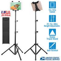 """For iPad Samsung 7""""-12"""" Universal Tripod Floor Stand Tab 360 Adjustable Holder"""