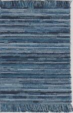 "Dollhouse Miniature Woven Accent Rug in Various Colors of Blue 9/"" x 5 3//4/"""