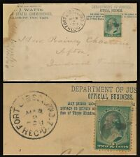 1890 FORT GIBSON Indian Territory Cover