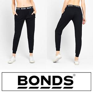 Bonds Womens Essentials Skinny Trackie - Tracksuit Track Pants Black Trackies
