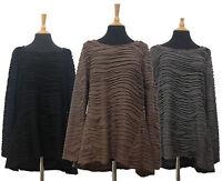 Stylish Women High Low Black Grey Mocha Long Sleeve Top Blouse Size M L XL XXL