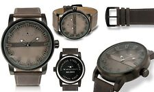 NEW Tavan 9894 Men's Haven Collection Bronze Dial Gray Textured Leather Watch